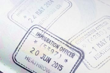 UK United Kingdom visa in passport
