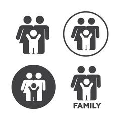 Family icons set vector illustration. Family black logo. Family icons sign