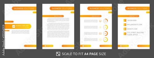 marketing kit presentation vector vertical template. modern, Templates