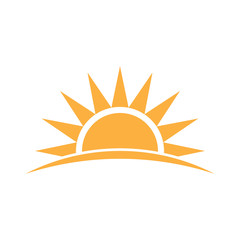Sunshine logo. Vector graphic illustration