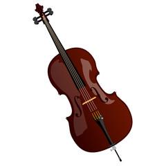 vector brown cello