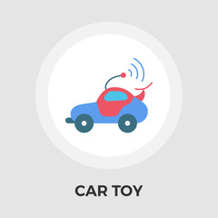 Car toy Vector Flat Icon