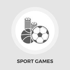 Sport games vector flat icon