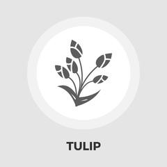 Tulip icon flat