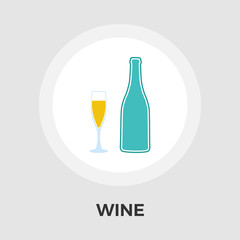Wine vector flat icon