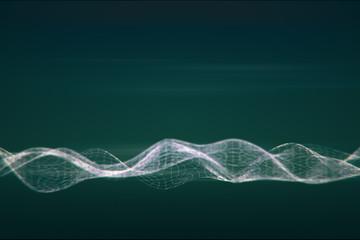 Digital wave on green