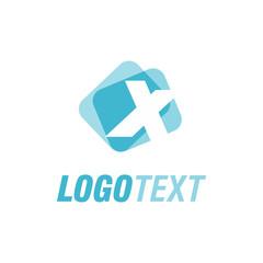 Letter X logo design.