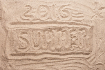 Inscription on the sand summer 2016