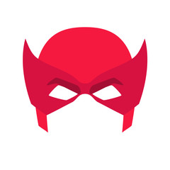Super hero red mask