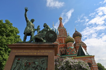 Exterior of the building of the famous St. Basil's Cathedral