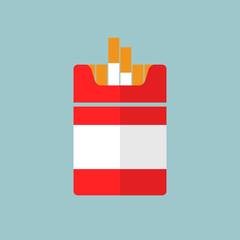 Vector flat Cigarettes icon