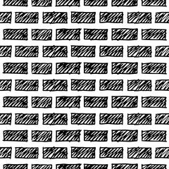 doodle  grunge  brick wall. Illustration background texture.