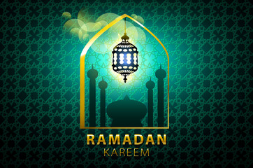 ramadan kareem Islamic design banner background template vector