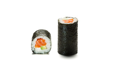 temaki hand roll isolated on white background