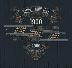 VVintage typographic label premium - vector