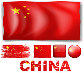 China flag in different design