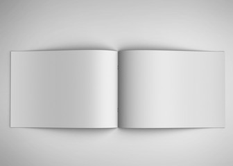 brochure  isolated on white background
