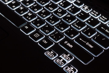 Backlit Laptop Keyboard