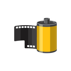 Photographic film icon, cartoon style