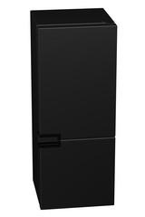 Black refrigerator. 3D rendering.