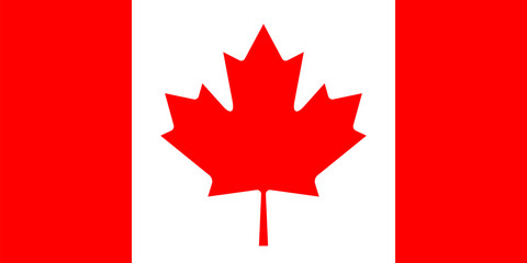 Canadian flag. Correct size and proportions.
