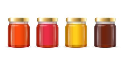 Jar Glass with Jam. Vector