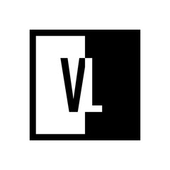 initial square half logo