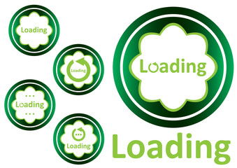 Green icons loading clipart