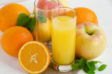 orange juice with fruits