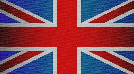 England tricolor with jeans texture