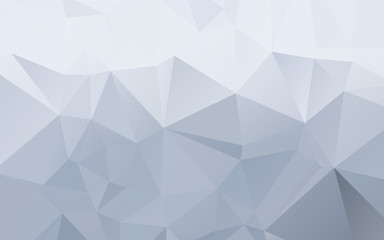 Stylish ice blue abstract polygonal vector background
