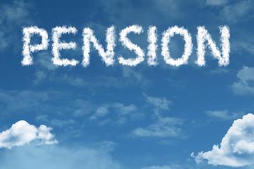 Pension written on rural road
