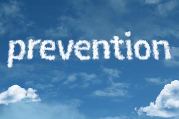 Prevention written on rural road