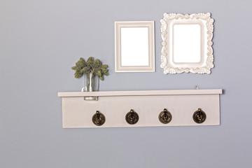 Vintage picture frames blank and hanger wooden.