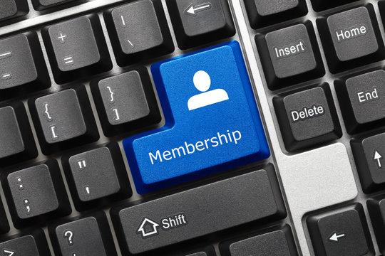 Conceptual keyboard - Membership (blue key)