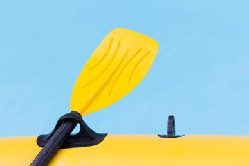 Close up yellow paddle.