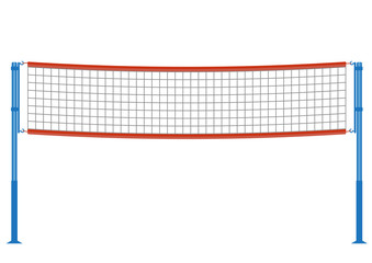 Vector volleyball net illustration.