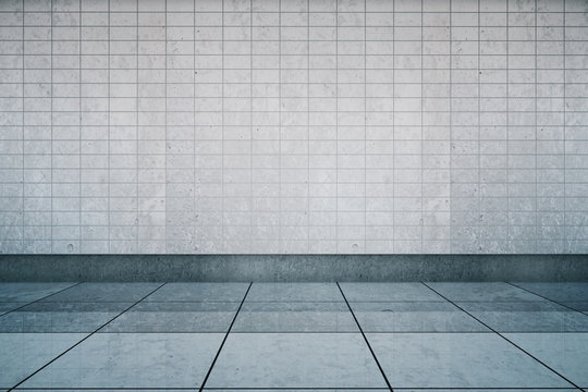 Metro station wall