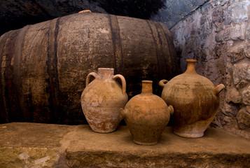 Fototapeta old wine cellar, Spain obraz