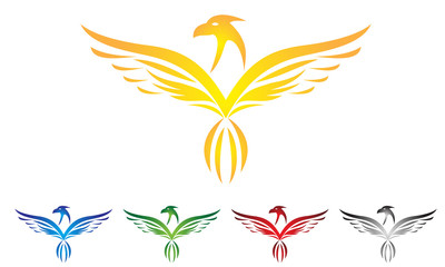 eagle, hawk, phoenix, logo vector