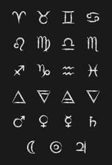Set of astrology icons