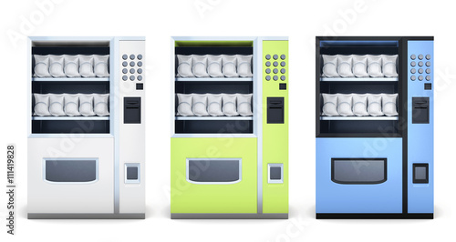 Quot Set Of Machine For Sale Of Snacks Isolated On White