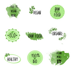 Only vegan raw and organic food menu.