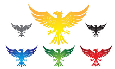 eagle, hawk, phoenix logo vector