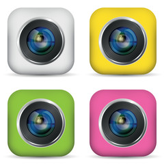 Set of photo apps icon