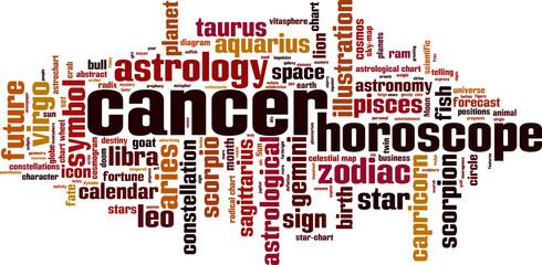 Cancer word cloud concept. Vector illustration