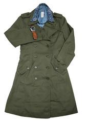 fashion casual man set/ military coat/chambray shirt