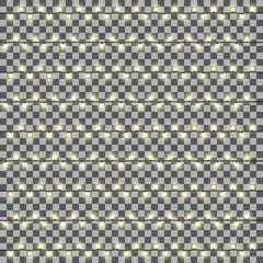 Vector set of garlands light on a transparent background