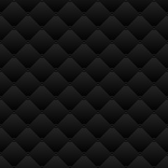 Rhombus geometry, abstract black background, seamless vector