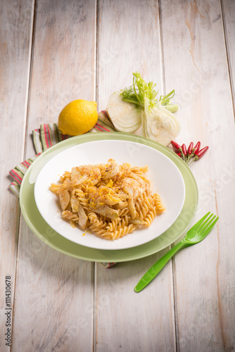 """fusilli with fennel grated lemon peel and hot chili pepper"""" Stock ..."""